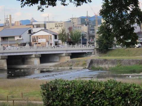 2・京都賀茂川と橋.JPG
