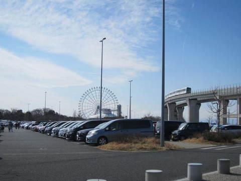 リニモと大観覧車.JPG